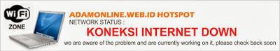 internet down hostpot Pemberitahuan Internet Mati ke User Hotspot Mikrotik